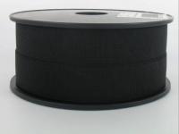 Elastique Cotelé 25 mm Noir
