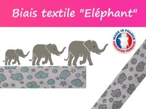 "Biais textile ""Éléphant"" Made in France"