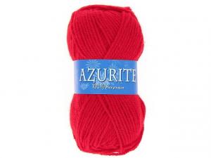 Laine azurite rouge vif
