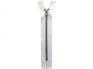 Fermeture pantalon métal blanc