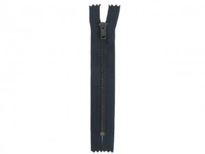Fermeture pantalon métal marine