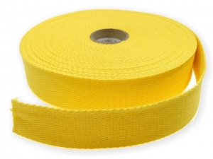 Sangle coton 23 mm Jaune