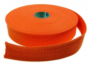 Sangle coton 23 mm Orange
