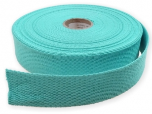 Sangle coton 23 mm Turquoise