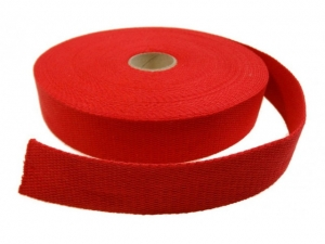 Sangle coton 23 mm Rouge