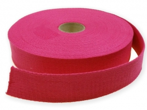 Sangle coton 30 mm Fuschia