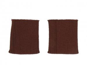 Bord côte poignets cuir