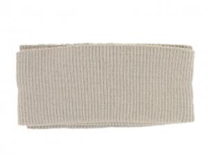 Bord côte ceinture beige