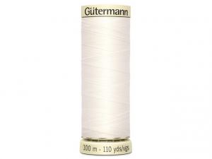Fil pour tout coudre Gütermann blanc cassé 111