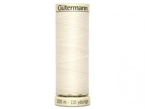 Fil pour tout coudre Gütermann écru 001