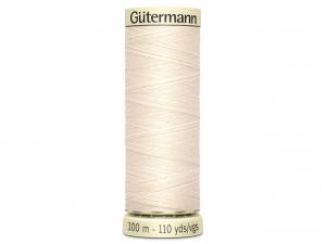 Fil pour tout coudre Gütermann écru 802