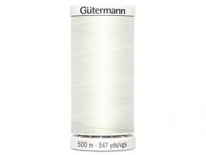 Fil à coudre Gütermann 500m col : 111 blanc cassé