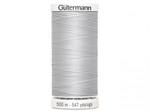 Fil à coudre Gütermann 500m col : 008 gris clair