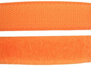 Ruban auto-agrippant 20 mm orange fluo