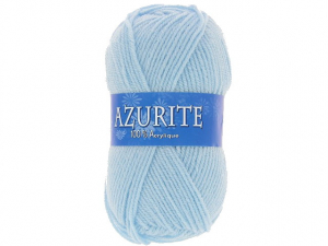 Laine azurite bleu clair