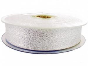Biais lamé argenté 30 mm