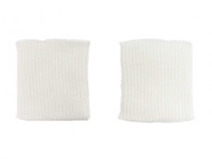 Bord côte poignets blanc