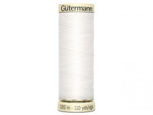 Fil pour tout coudre Gütermann blanc 800
