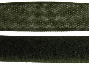 Ruban auto-agrippant 20 mm vert armée