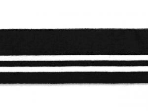 Bord cote polo noir rayé blanc