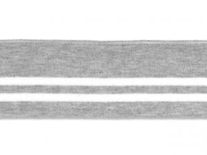 Bord cote polo gris rayé blanc