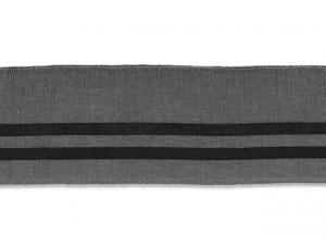 Bord cote polo gris rayé noir