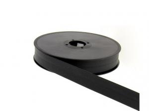 Biais simili cuir 20 mm Noir