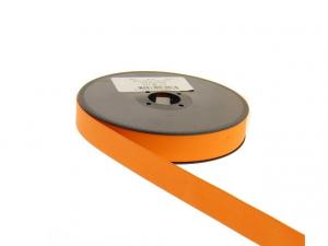 Biais simili cuir 20 mm Noir Orange