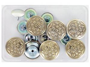 boutons jeans 14 mm argent