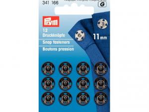 Boutons pression à coudre 11 mm noir