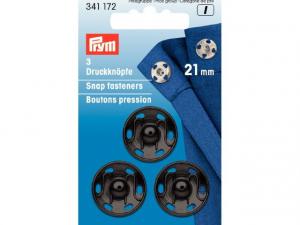 Boutons pression à coudre 21 mm noir