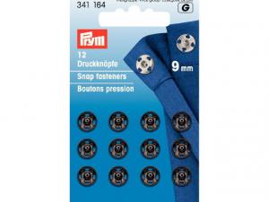 Boutons pression à coudre 9 mm noir